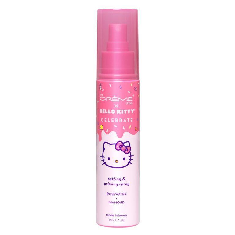 The Crème Shop x Hello Kitty Celebrate Setting & Priming Spray Rose Water + Diamond Closed