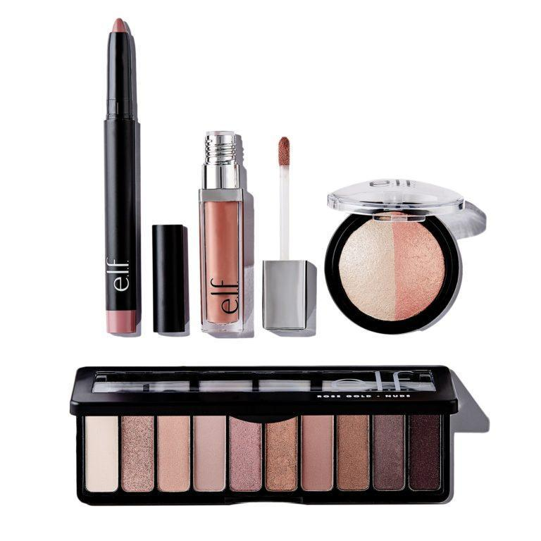 e.l.f. Holiday 2019 Gift Sets Rose Gold Look Set Open