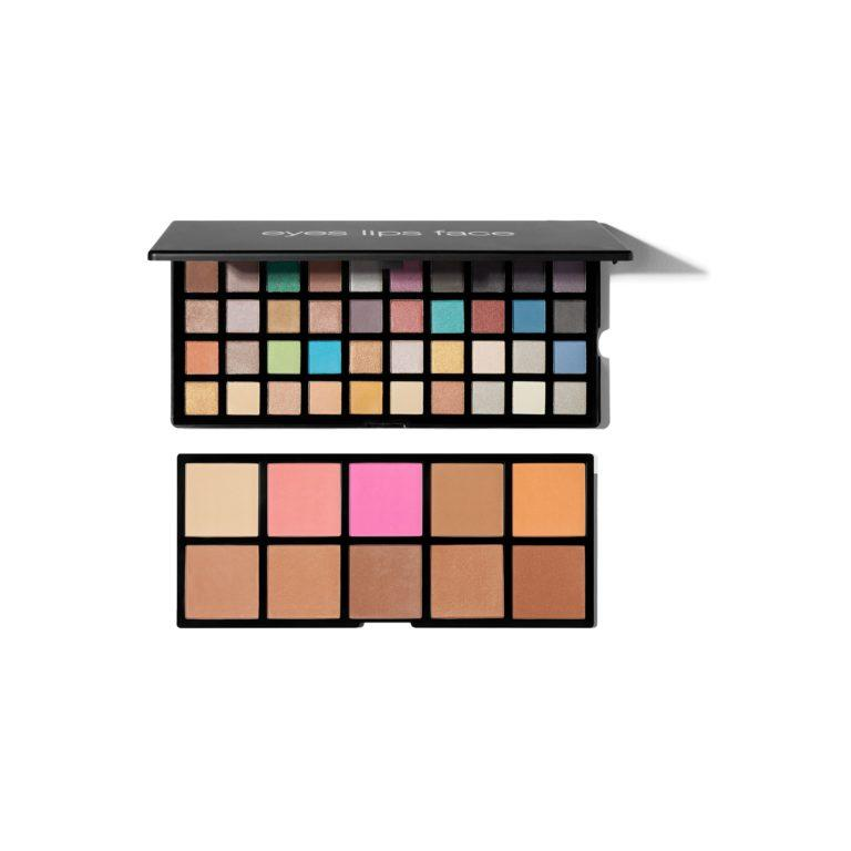 e.l.f. Holiday 2019 Gift Sets Sweet Temptations 50 Piece Eye & Face Palette Open