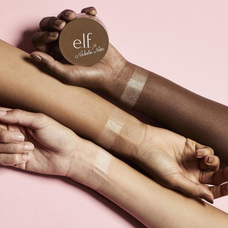 e.l.f. xo Nabela Noor Gleaming Loose Highlighter Swatches
