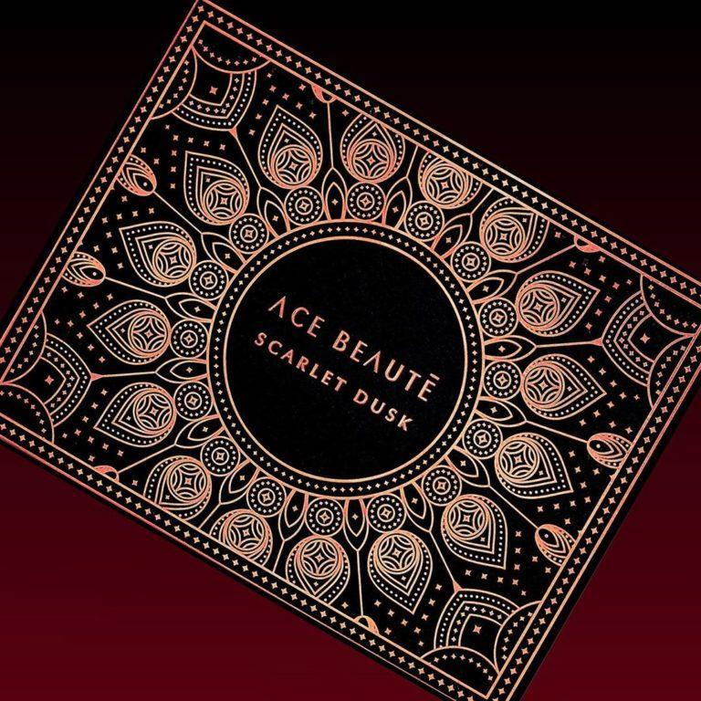 Ace Beaute Scarlet Dusk Eyeshadow Palette Closed