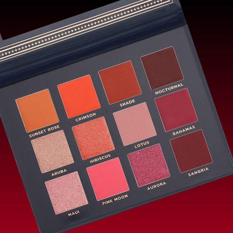 Ace Beaute Scarlet Dusk Eyeshadow Palette Open