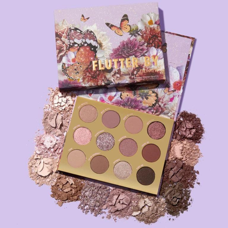 Colourpop Butterfly Paleta Flutter By con crashes