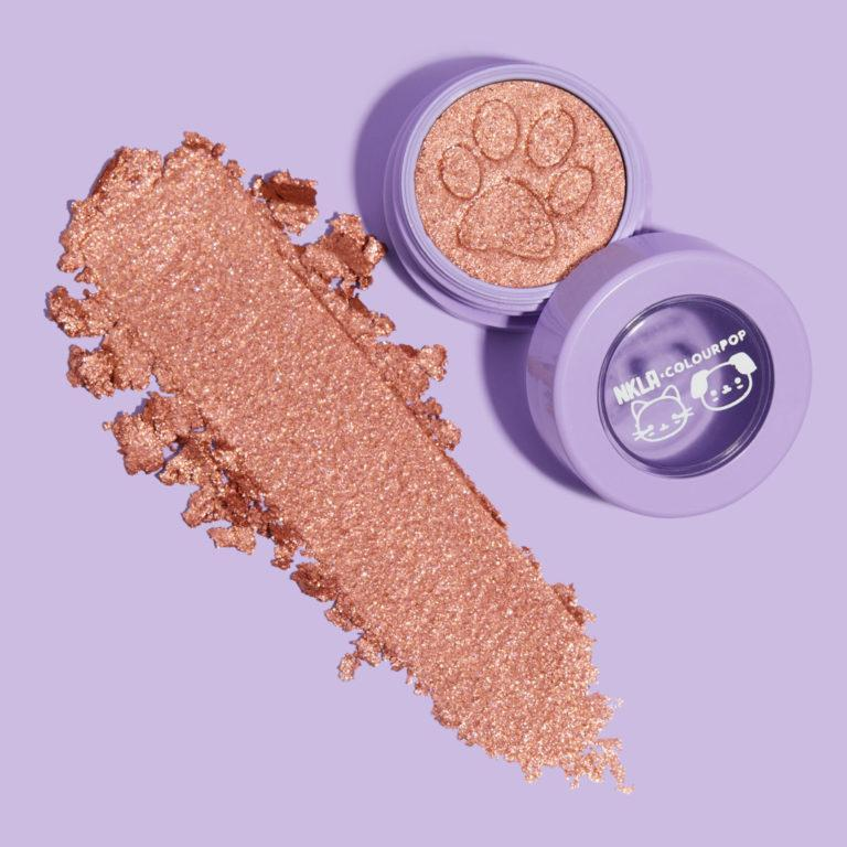Colourpop x NKLA Super Shock Shadow Pawsitively Purfect On Purple Swatch