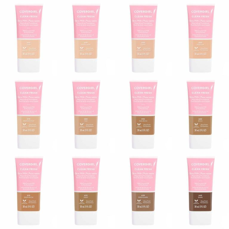 Covergirl Clean Fresh Skin Milk Nourishing Foiundation Shades