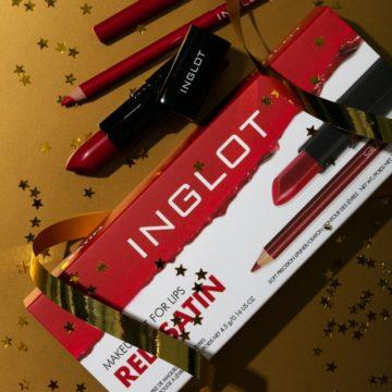 Inglot The Cosmic Collection Lip Kit Red Satin
