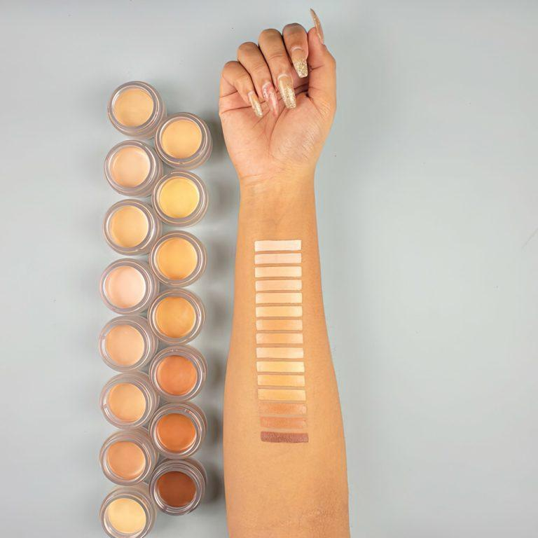 Makeup Revolution Conceal & Fix Ultimate Coverage Concealer Swatches 1