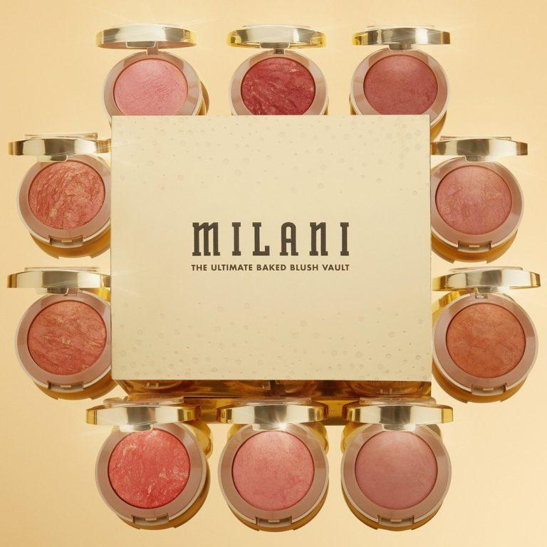Milani 24 Karat Gold Collection The Ultimate Baked Blush Vault abierto