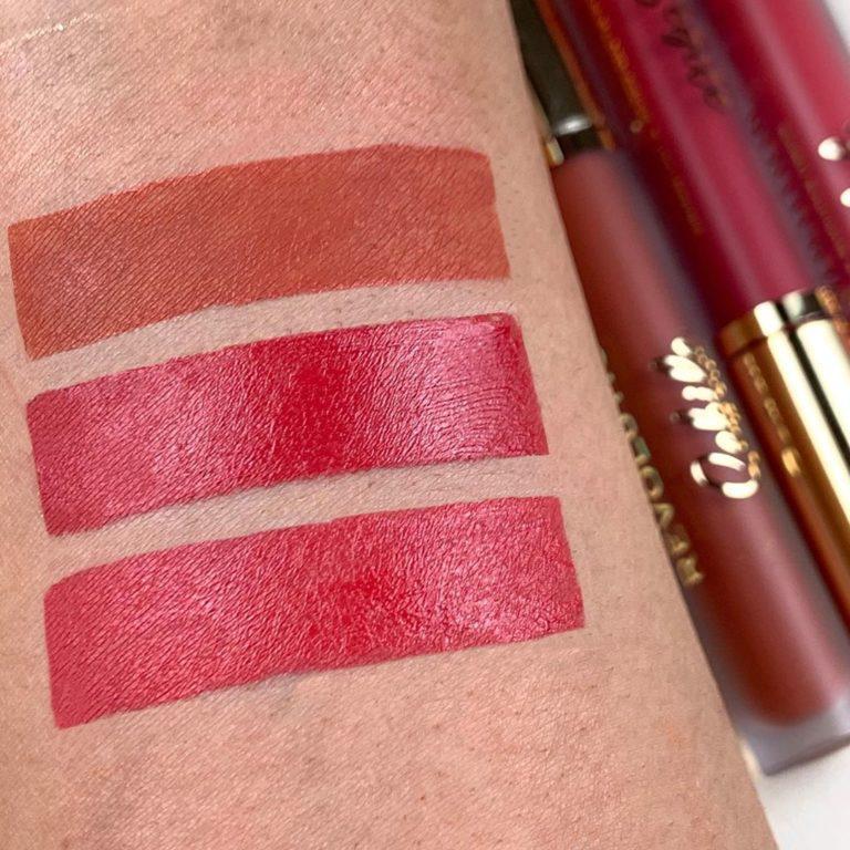 Revolution X Sebile Collection Matte Liquid Lipsticks Swatches