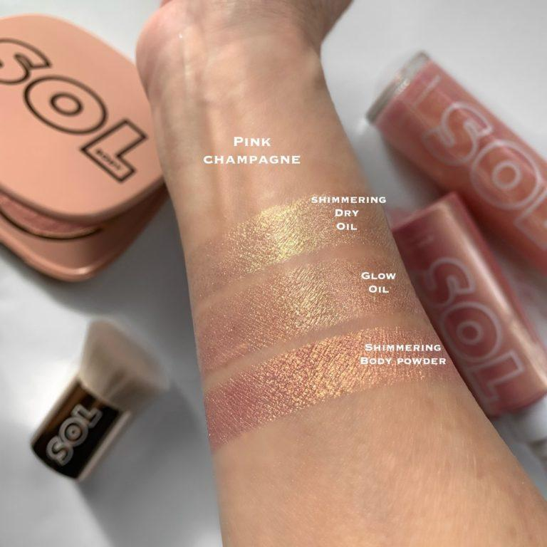 SOL Body Poppin' Bottles Glow Bundle Swatches