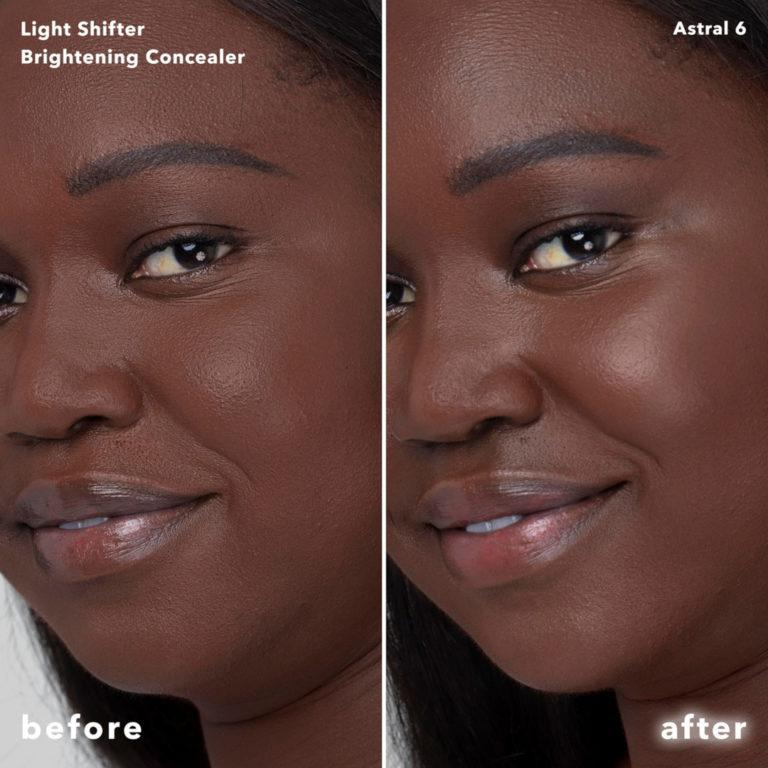 Becca Cosmetics Light Shifter Brightening Concealer Before After Astral 6