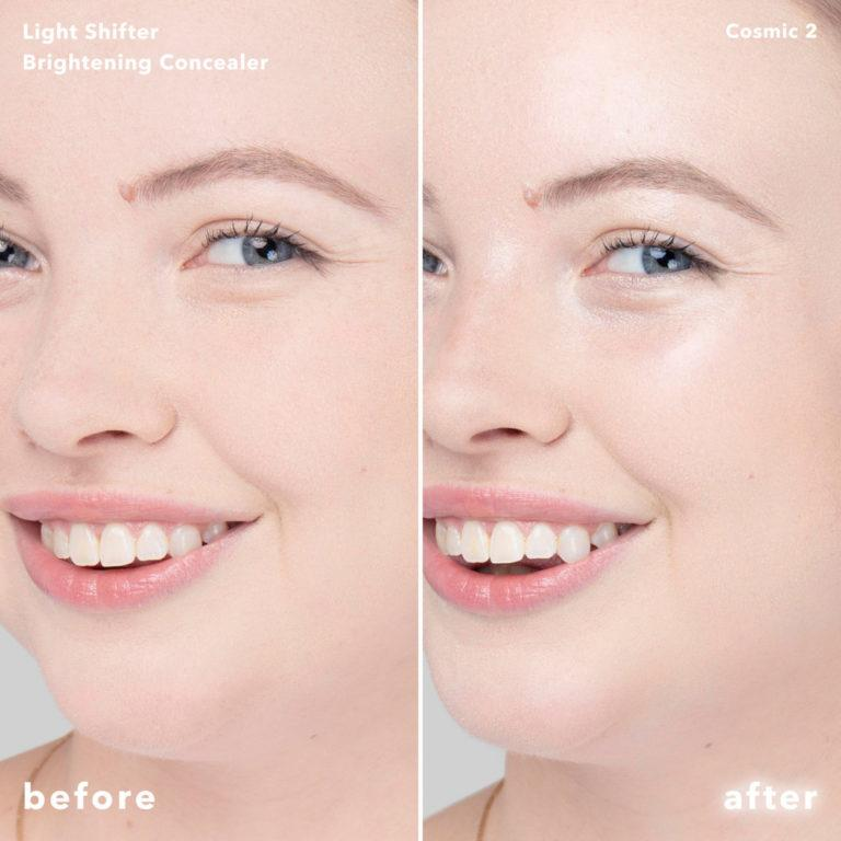 Becca Cosmetics Light Shifter Brightening Concealer Before After Cosmic 2