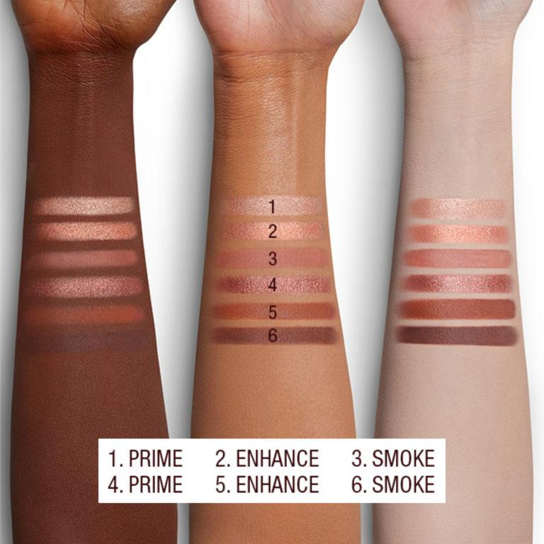 Charlotte Darling Easy Eye Palette Arm Swatches