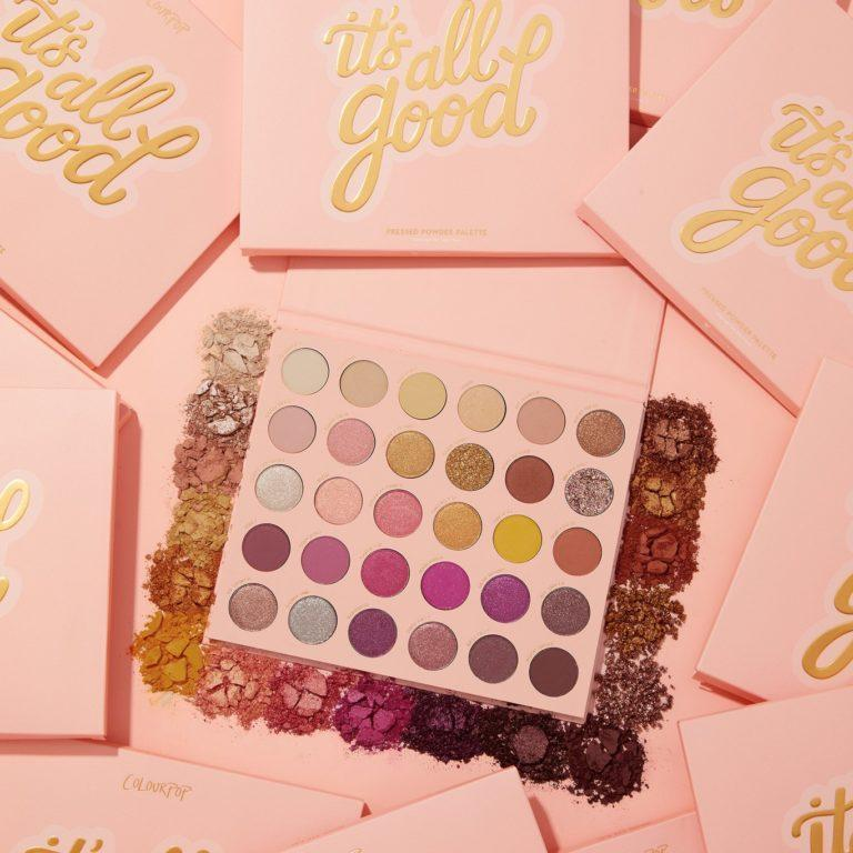 Colourpop Cosmetics It's All Good Promo Candy Angled With Crash Swatches