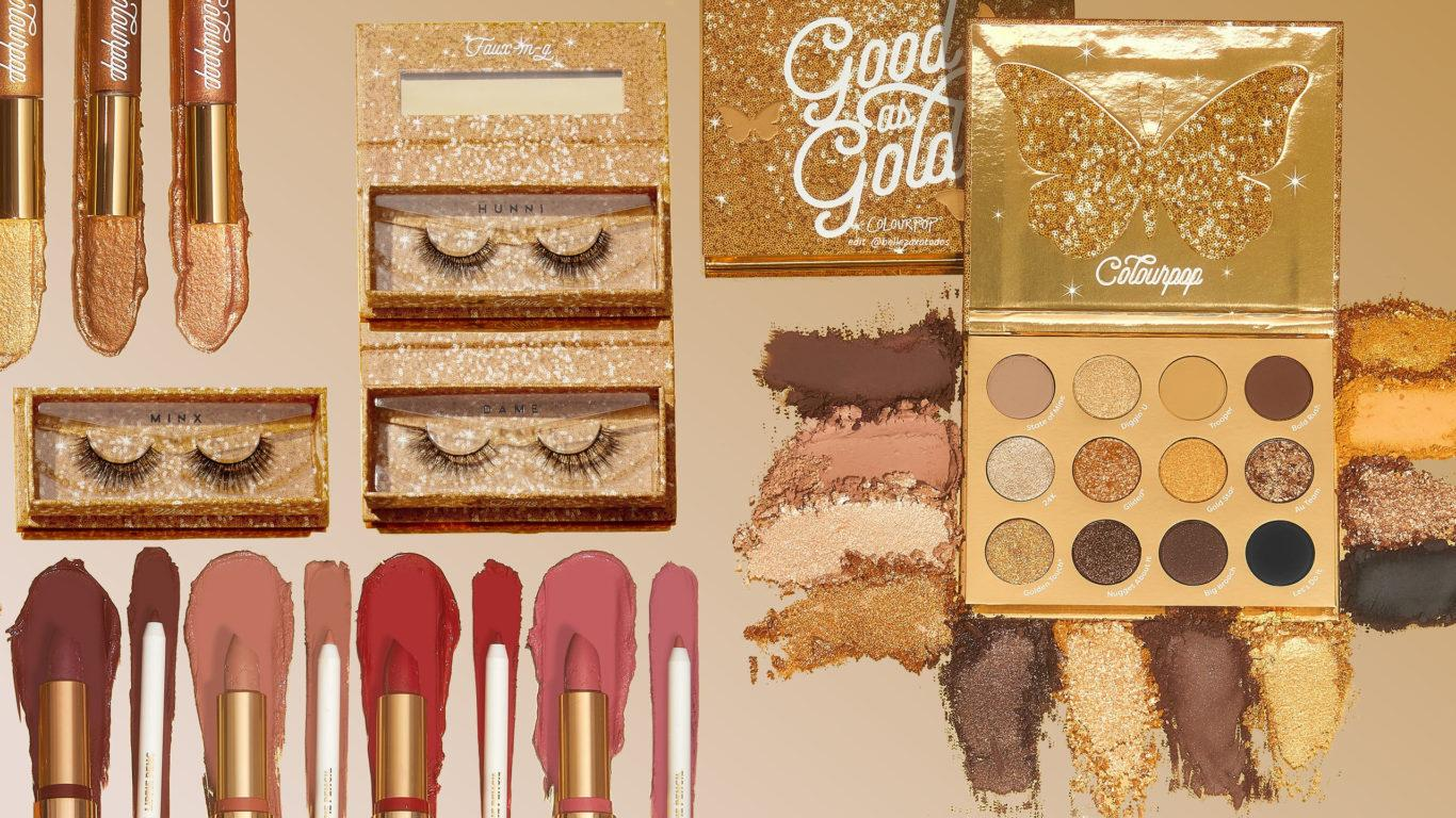 Colourpop Cosmetics Solid Gold Collection Blog Header