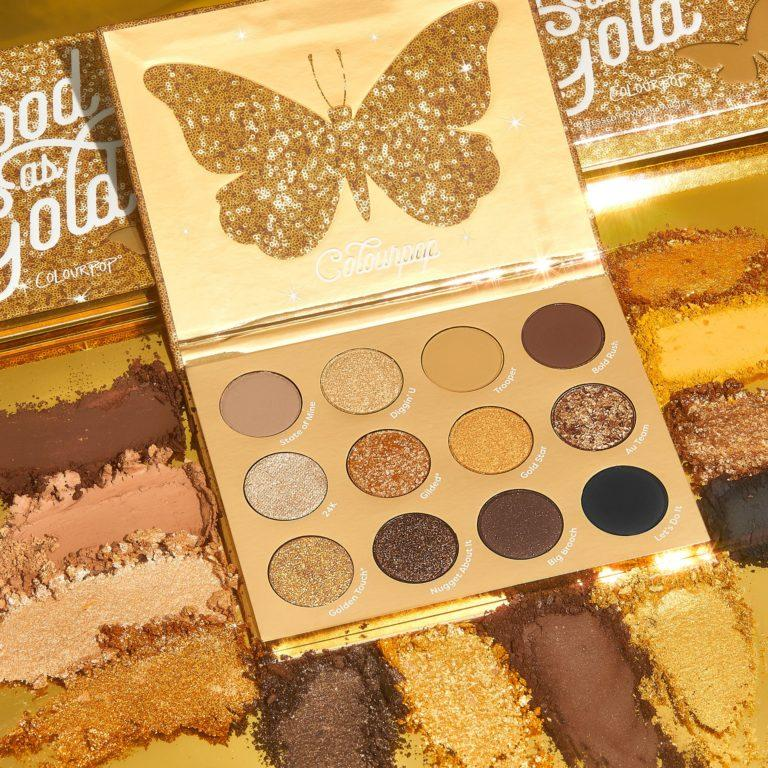 Colourpop Cosmetics Solid Gold Collection Good as Gold Eyeshadow Palette