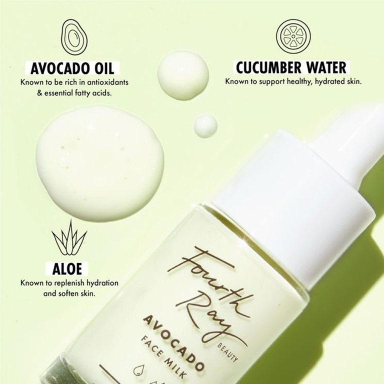 Fourth Ray Beauty Avocado Face Milk Info