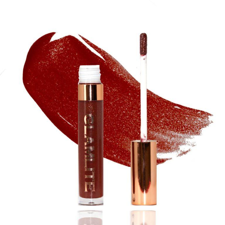 Glamlite Sweet Tooth Lip Gloss Collection S'mores Product & Swatch