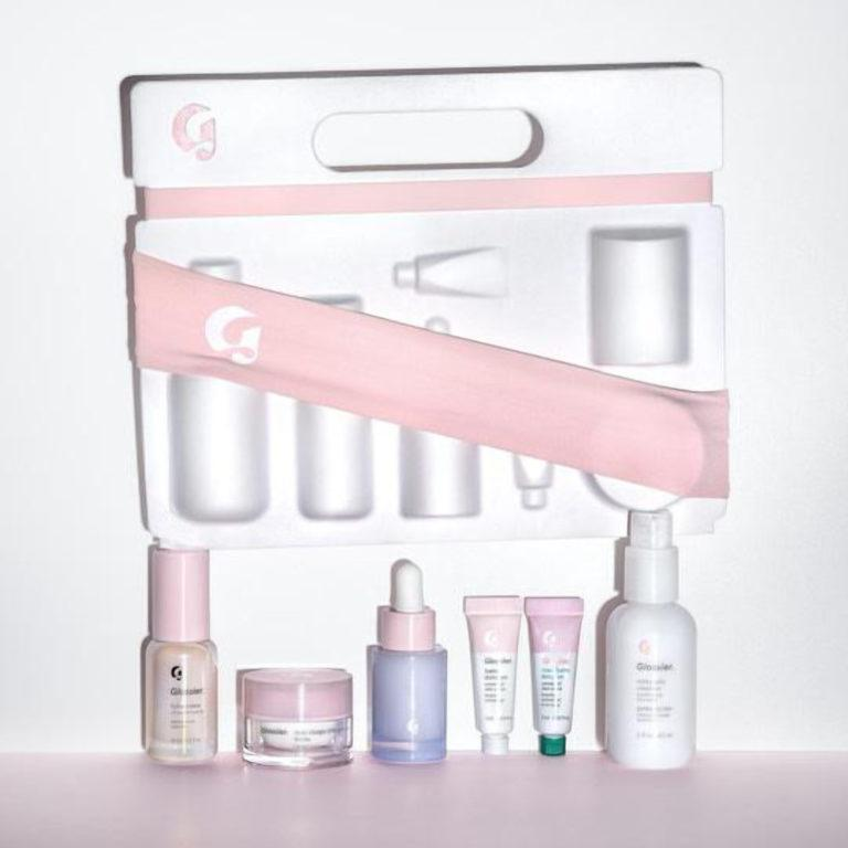 Glossier The Skincare Edit Products And Closed