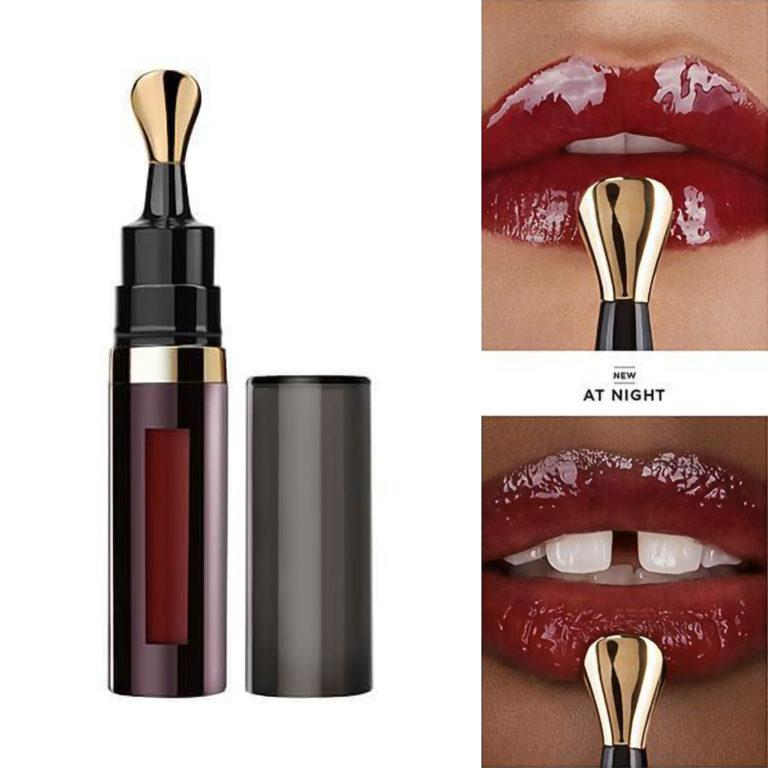 Hourglass Limited Edition No. 28 Lip Treatment Oil At Night Product With Swatches