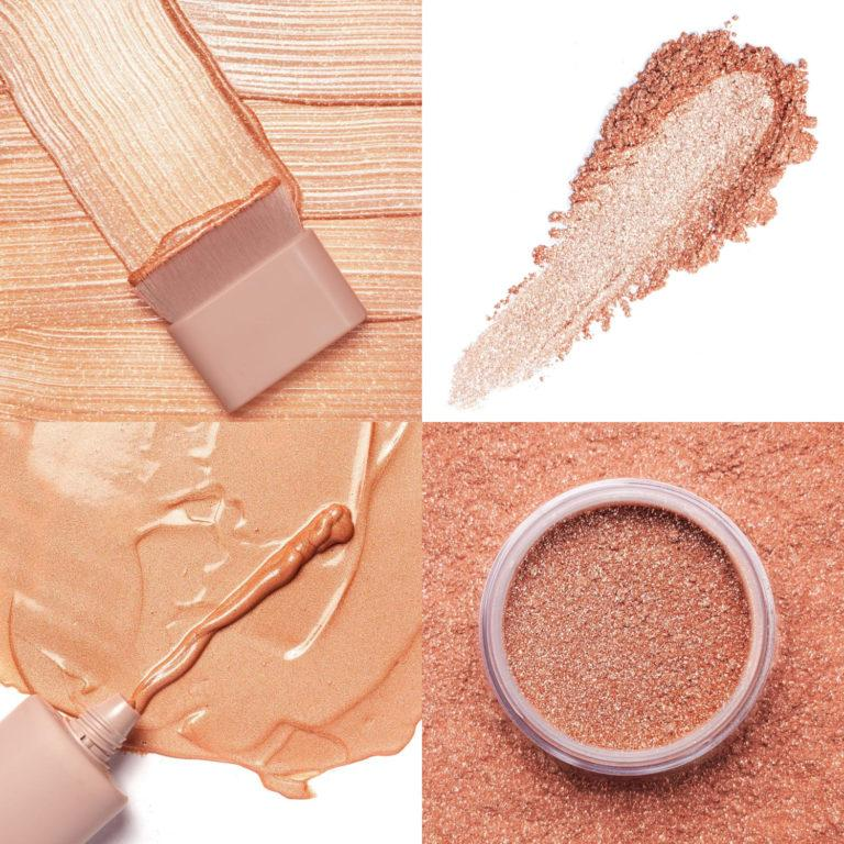 KKW Beauty Glitz & Glam Collection Rose Gold Liquid & Powder Shimmer with Brush