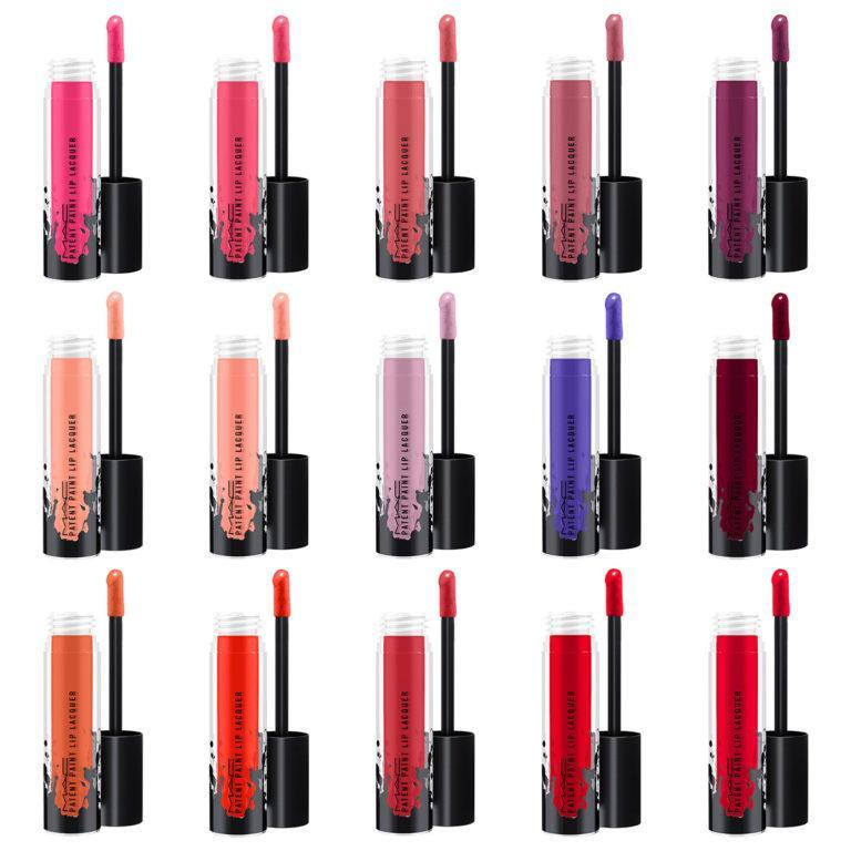 MAC Cosmetics Patent Paint Lip Lacquer All Product Shades