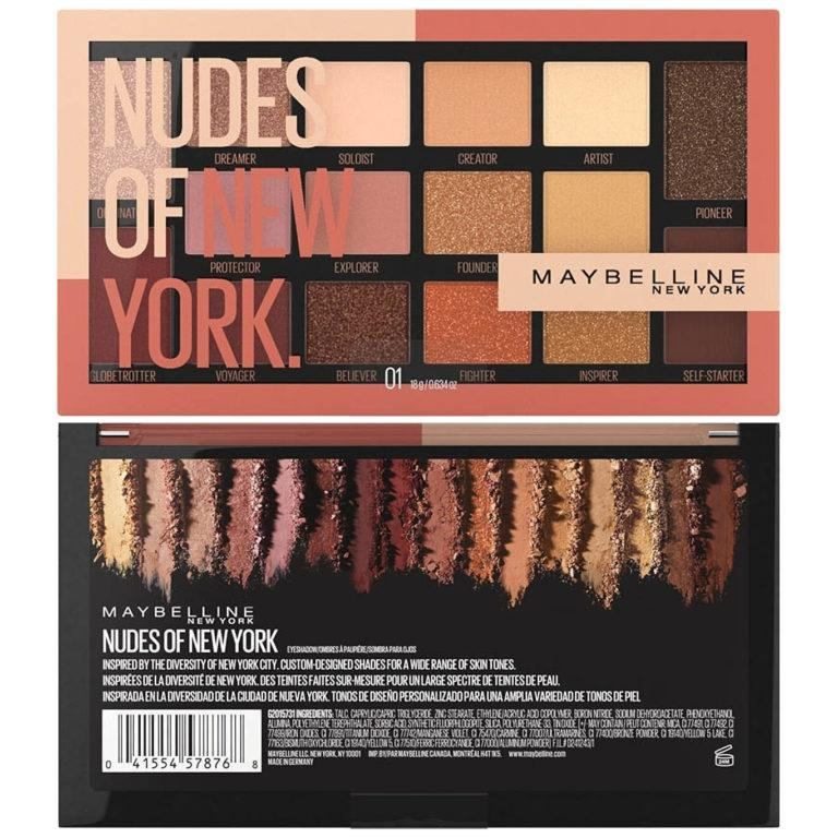 Maybelline Eyestudio Nudes of New York 16 Pan Eyeshadow Palette Front And Back