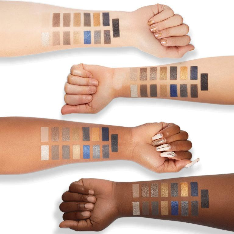 Milani Cosmetics Gilded Coast Eyeshadow Palette Swatches