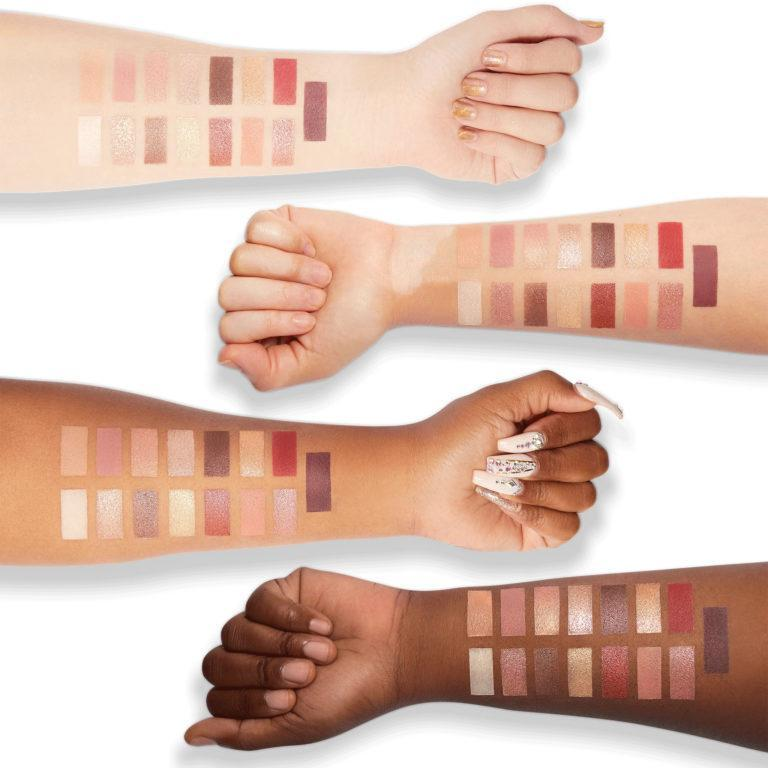 Milani Cosmetics Gilded Luster Light Eyeshadow Palette Swatches