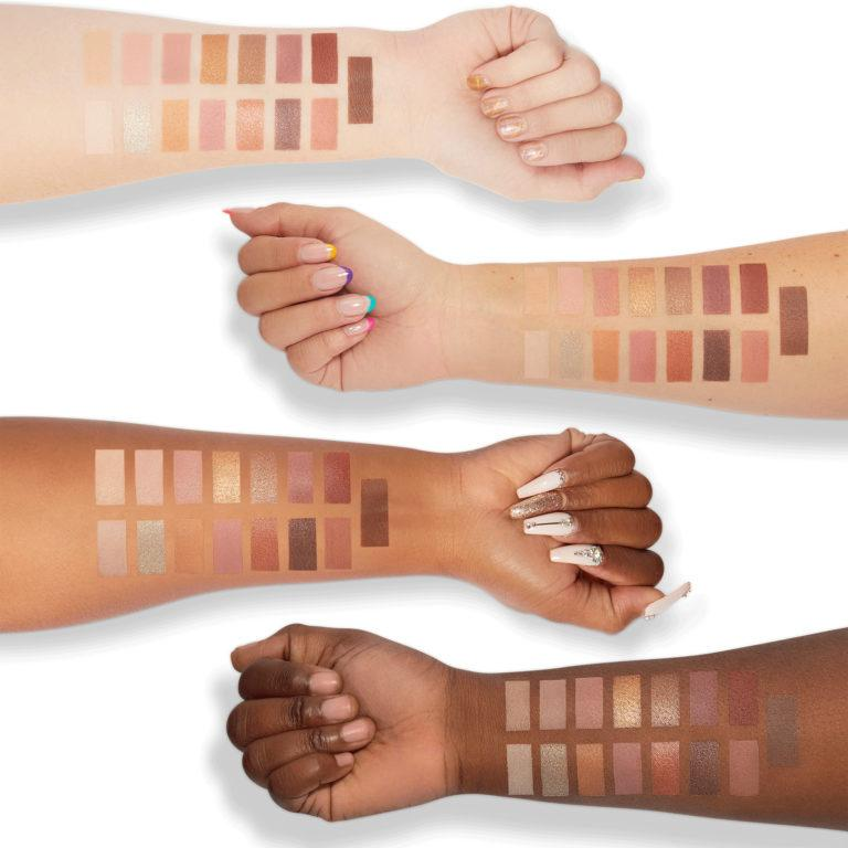 Milani Cosmetics Gilded Nude Eyeshadow Palette Swatches