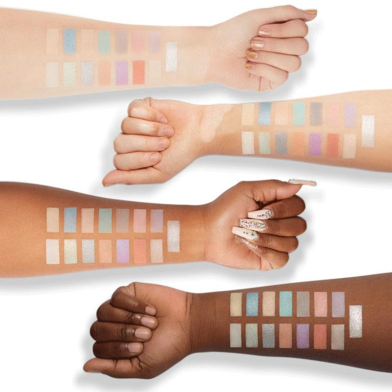 Milani Cosmetics Gilded Pastel Eyeshadow Palette Swatches