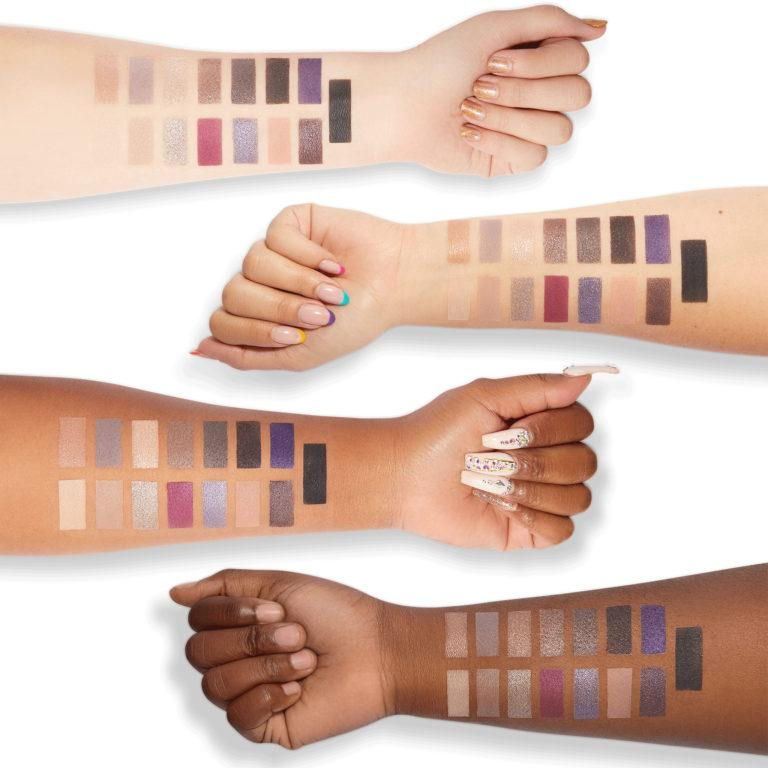 Milani Cosmetics Gilded Twilight Eyeshadow Palette Swatches