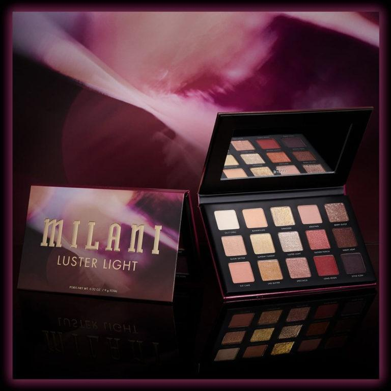 Milani Cosmetics Luster Light Eyeshadow Palette Promo