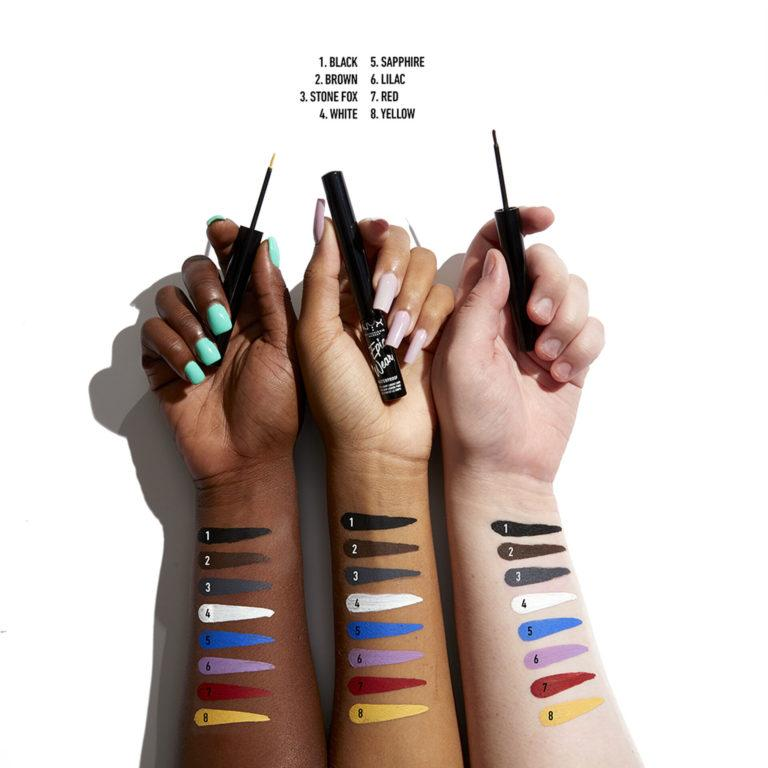 NYX New Products Epic Wear Liquid Liner Swatches
