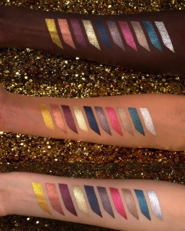 Pat McGrath Labs Star Wars Collection Mothership IV Decadence Swatches