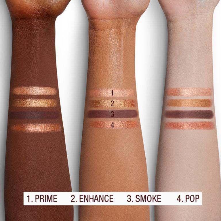 The Queen Of Glow Luxury Palette Arm Swatches