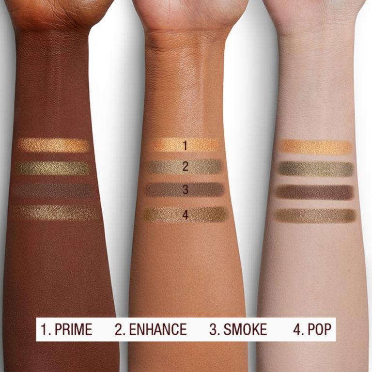 The Rebel Luxury Palette Arm Swatches