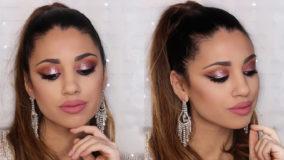 Tutorial de maquillaje con brillo para fiesta