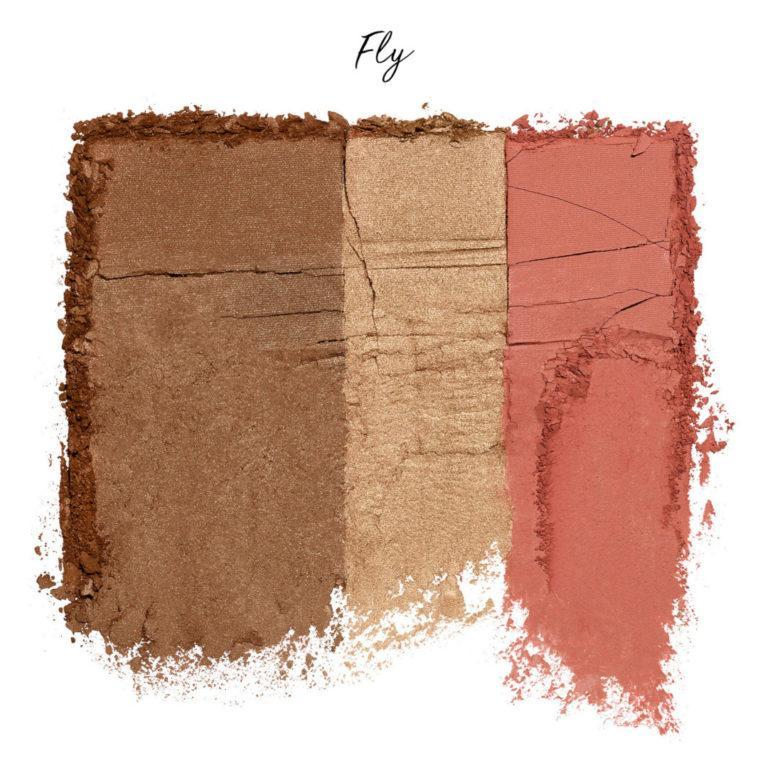Urban Decay Naked Threesome Blush, Bronzer & Highlighter Palette Crash Swatch Fly