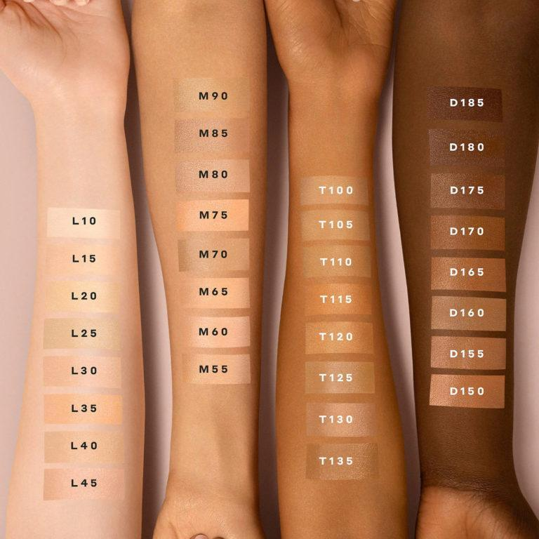 Bite Beauty Changemaker Supercharged Micellar Foundation Swatches