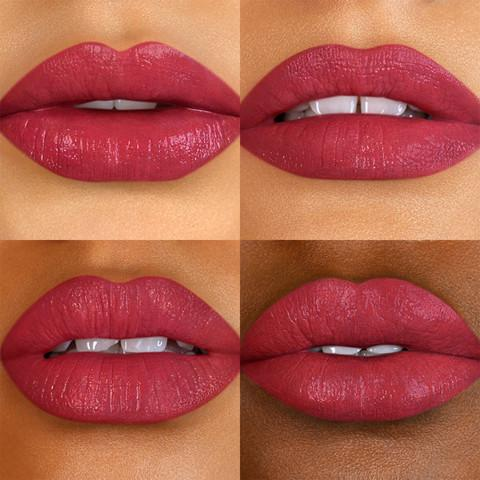 Bite Beauty Power Move Creamy Matte Lip Crayon in Red Velvet lip Swatch