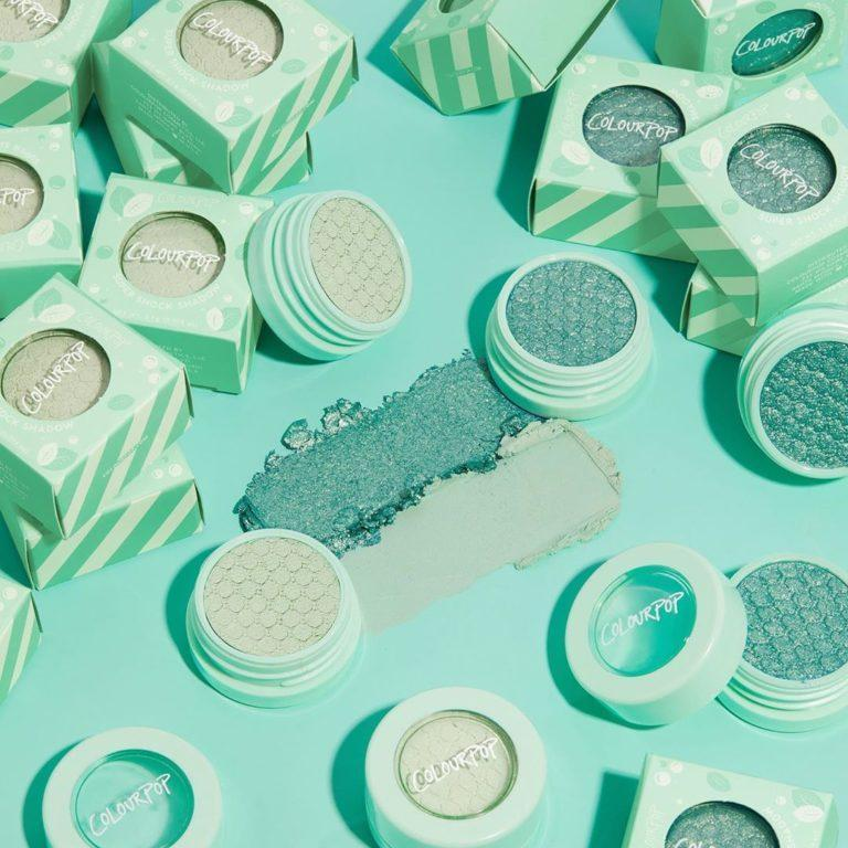 Colourpop Cosmetics Minty Fresh Collection Mint 4 U & Flux Supershock Shadows