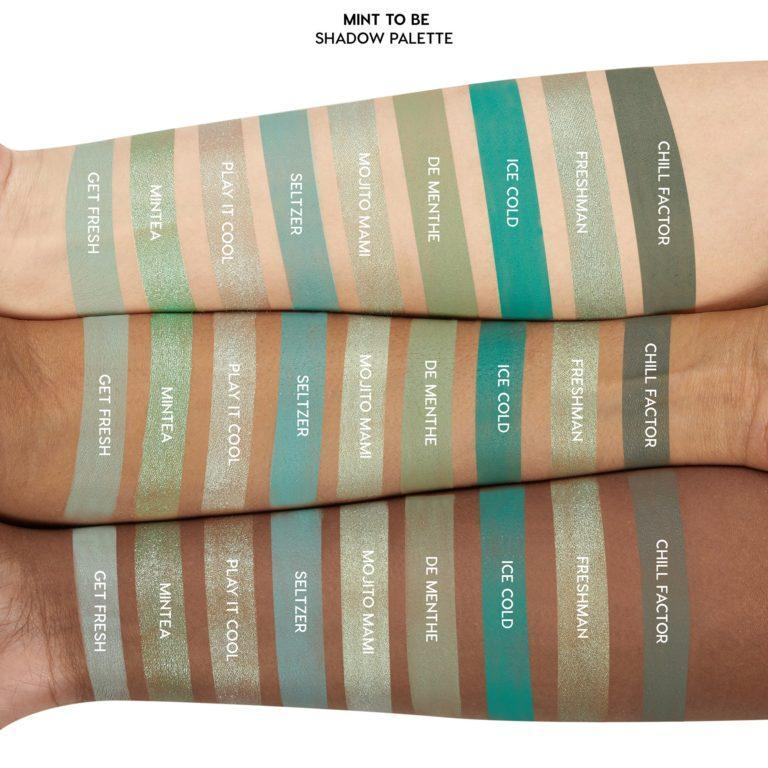 Colourpop Cosmetics Minty Fresh Collection Mint To Be Eyeshadow Palette Arm Swatches