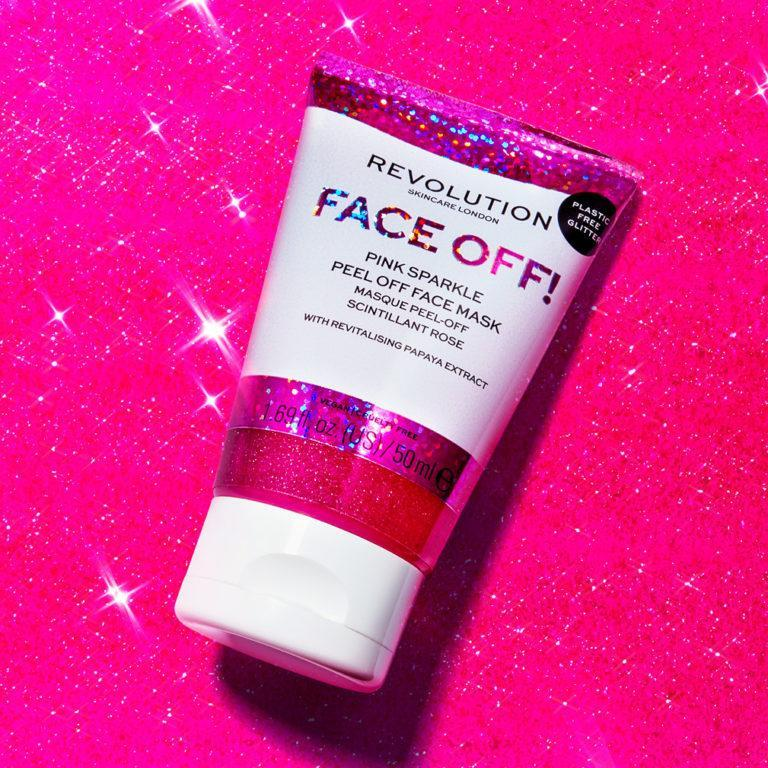 Face Off! Pink Sparkle Peel Off Face Mask