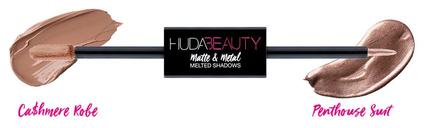 Huda Beauty Matte & Metal Melted Double Ended Eyeshadows CaShmere Robe & Penthouse Suite