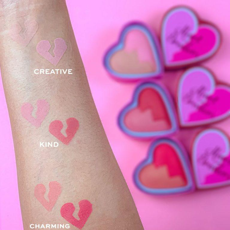 I Heart Revolution Heartbreakers Collection Blush & Highlighter Swatches 1