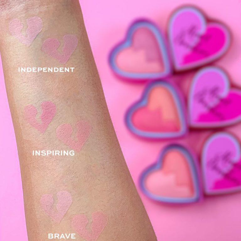 I Heart Revolution Heartbreakers Collection Blush & Highlighter Swatches 3