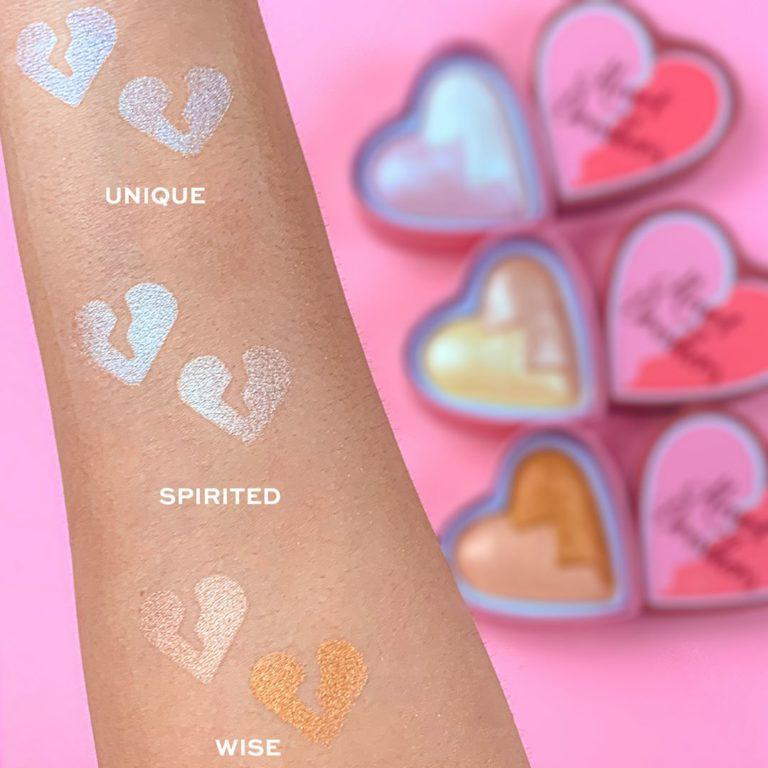 I Heart Revolution Heartbreakers Collection Blush & Highlighter Swatches 4