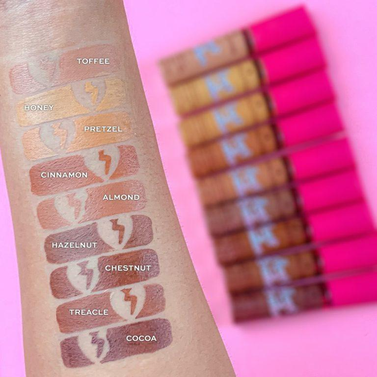 I Heart Revolution Heartbreakers Collection Concealer Swatches 1