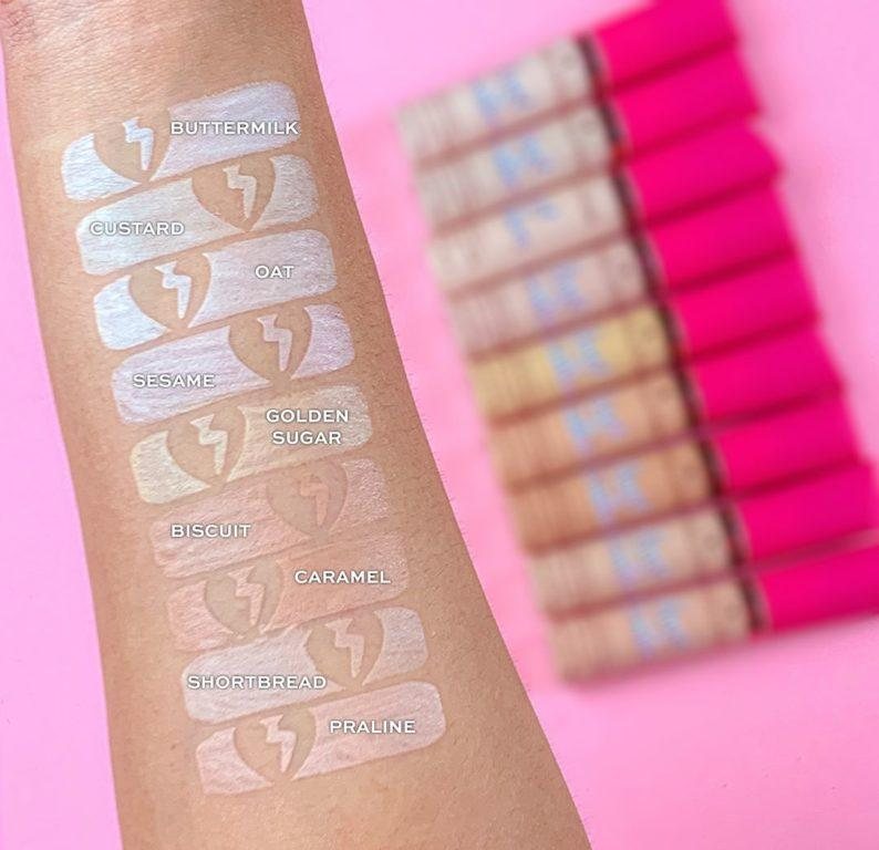 I Heart Revolution Heartbreakers Collection Concealer Swatches 2